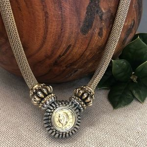 Vintage RAU Klikit Coin Necklace